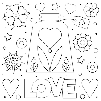 Amour coloriage