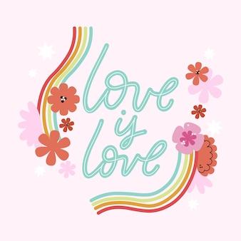 L'amour créatif est le lettrage d'amour