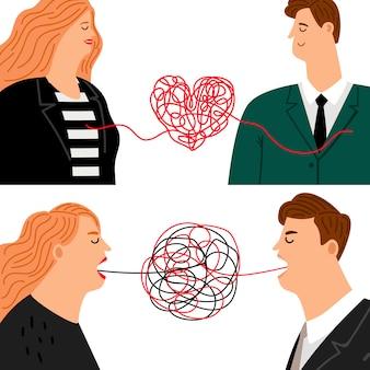 L'amour déteste l'homme et la femme