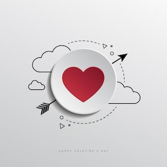 L'amour est le design de vecteur de temps et d'espace