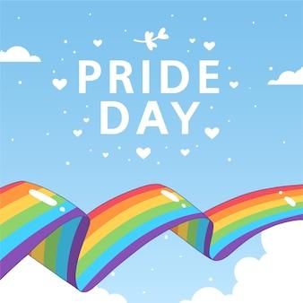 L'amour est le drapeau arc-en-ciel de la fierté de l'amour