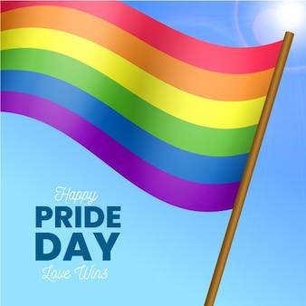 L'amour est le drapeau de la journée de la fierté mondiale de l'amour