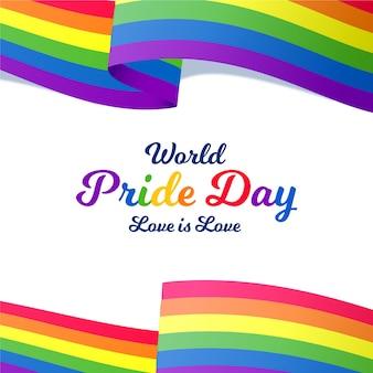 L'amour est la journée de la fierté mondiale de l'amour