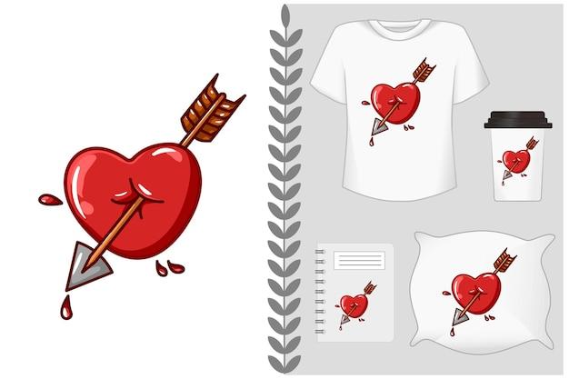Amour avec flèche