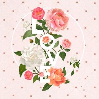 Amour et fleurs