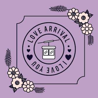 Amour floral joint design de carte vector illustration design