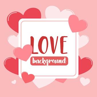 Amour fond avec coeur