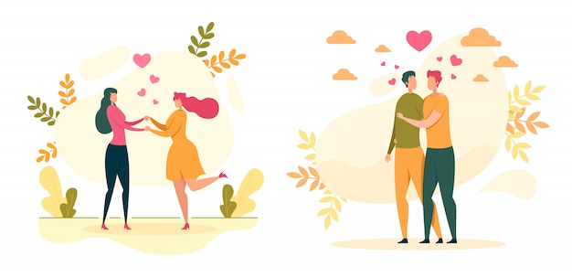 Amour homosexuel, illustration des relations