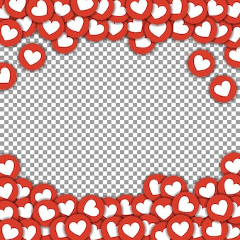 Amour icônes cadre de fond
