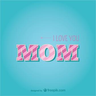 Amour de jour de modèle typographique de mère heureux