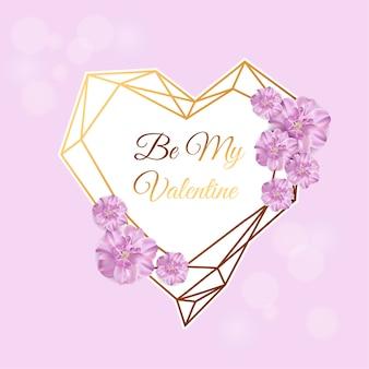 Amour. joyeuse saint valentin. fleurs réalistes