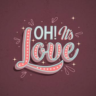 Amour lettrage dans un style vintage