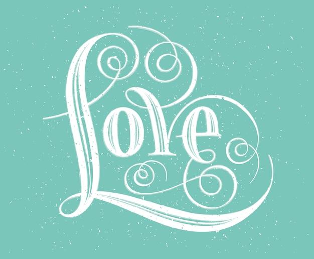 Amour. lettrage à la main. calligraphie à la main