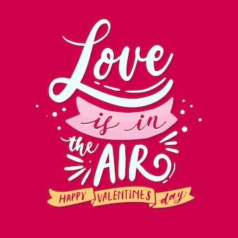 Amour lettrage de la saint-valentin