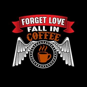 Amour oublié tomber dans le café