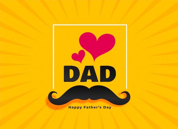 Amour papa heureux carte de voeux de fête des pères