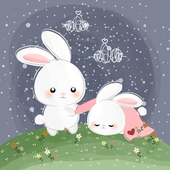 Amour de petit lapin mignon