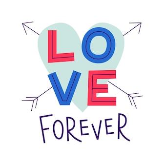 Amour pour toujours. saint valentin romantique