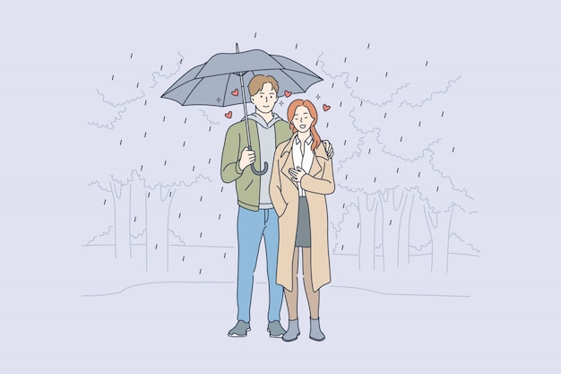 Amour, relation, concept de romance