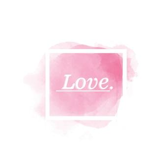 Amour résumé aquarelle fond