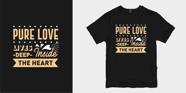 Amour et romantique typographie conception de t-shirt slogan citations