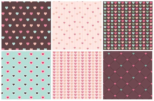 Amour saint valentin coeurs sans soudure