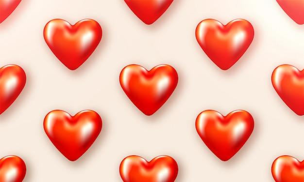 L'amour de la saint-valentin est magnifique. brochure spéciale avec coeurs. carte affiche cadeau. bannière de vente pour une journée romantique.