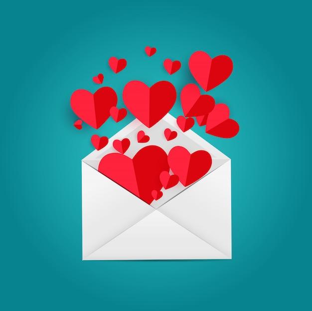 Amour et sentiments de la saint-valentin.