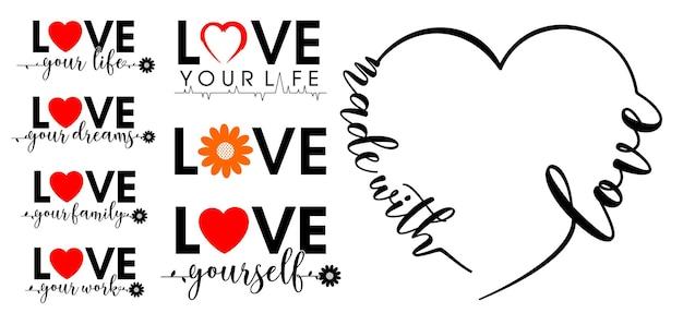 Amour typographie