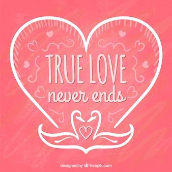 L'amour vrai de la saint-valentin