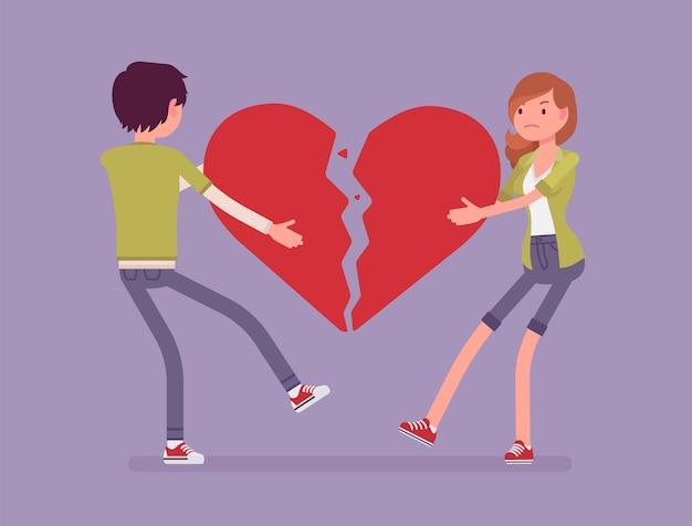 Amoureux cœur brisé