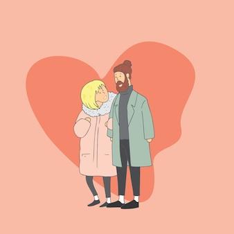 Amoureux. illustrations de conception doodle vecteur dessinés à la main style