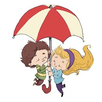 Amoureux d'un parapluie
