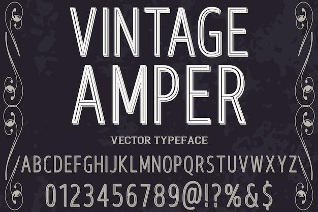 Ampère de style graphique police vintage