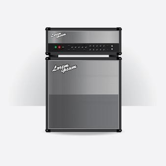Amplificateur de guitare mis illustration vectorielle