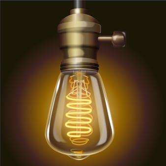 Ampoule allumée de style réaliste