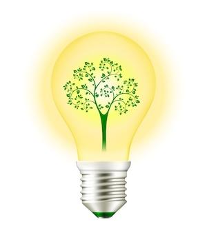 Ampoule avec arbre à l'intérieur