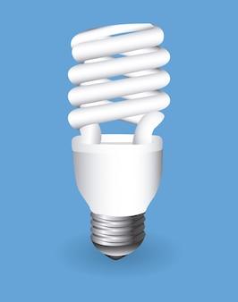 Ampoule sur bleu