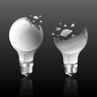Ampoule cassée dégradée