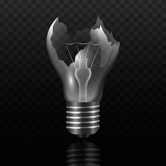Ampoule cassée réaliste