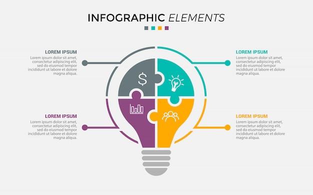 Ampoule cercle infographique