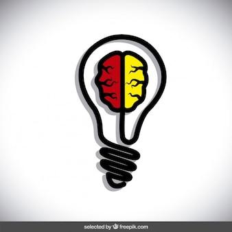 Ampoule avec le cerveau