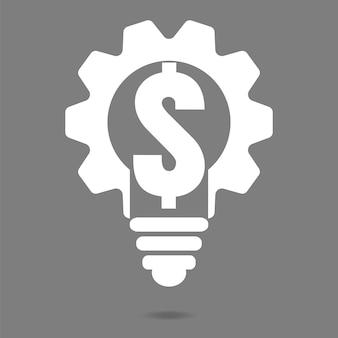 Ampoule cogs vector icon, ampoule