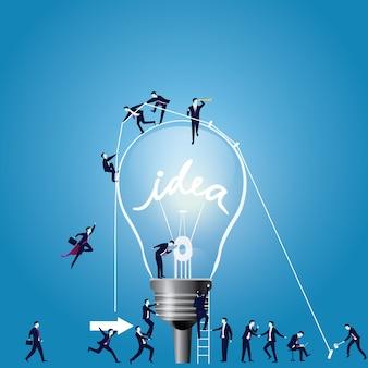 Ampoule comme symbole d'idée. illustration vectorielle
