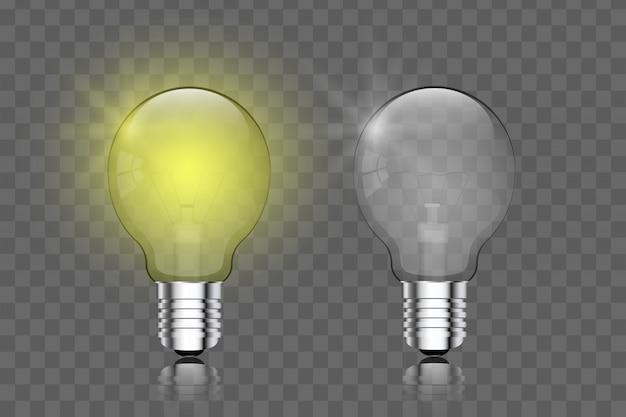 Ampoule créatif transparent réaliste