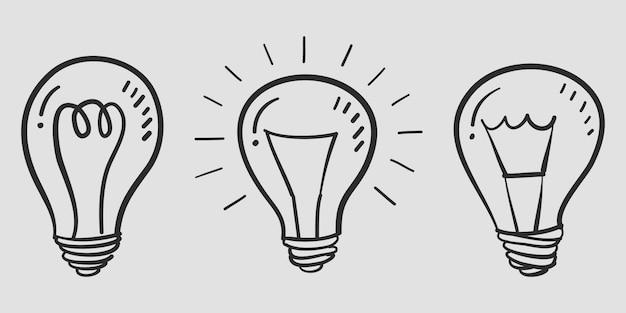 Ampoule dessiné à la main