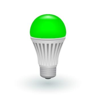 Ampoule économique verte led isolée