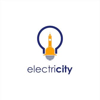 Ampoule électrique logo simple amusement