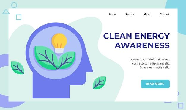 Ampoule à feuilles d'énergie propre dans la campagne de tête