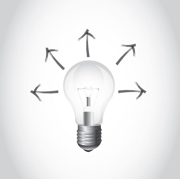 Ampoule et flèche